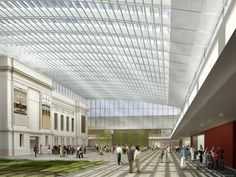New inside courtyard at the Cleveland Museum of Art