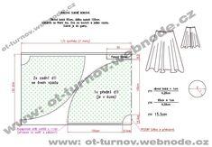 kolová dlouhá sukně ze 4 dílů