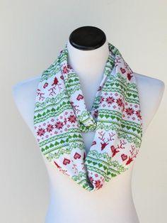 Christmas scarf reindeer infinity scarf #scarf #infinityscarf #Christmas #Christmasscarf #nordic #nordicsarf #scandinavian #scandinavianscarf #fairisle #fairislescarf #HappyScarvesByLesya by HappyScarvesByLesya