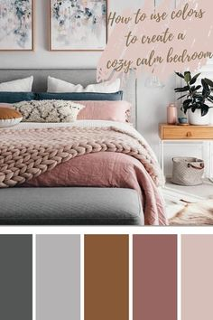 Relaxing Bedroom Colors, Small Bedroom Colours, Relaxing Master Bedroom, Best Bedroom Colors, Cozy Bedroom, Beige Walls Bedroom, Grey Colour Scheme Bedroom, Bedroom Color Combination, Apartment Color Schemes