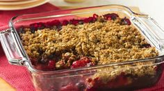 Gold Medal® whole wheat flour provides a simple addition to this fresh berry crisp – a deliciously scrumptious dessert!