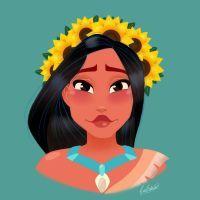 Pocahontas Flower Crown by princessbeautycase