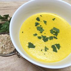 Creamy Carrot, Ginger and Coriander Soup - May Simpkin