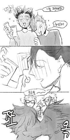 1/2 보쿠른 전력 [질투]. 아카보쿠(feat. 쿠로오+츠키시마)로 참가해요~아카아시는 질투의 화신..그러나 잘 표현하지 못한다ㅜㅜ