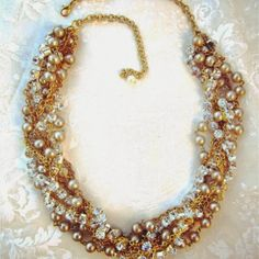 Marie Necklace - The bridal collection can be done to fit the uniqueness of your own wedding or special event. $92.00