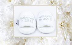 Baby slippers Geboren in 2015  www.hiverstore.com