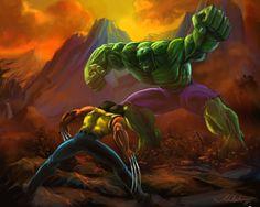 #Hulk #Fan #Art. (Hulk x Wolverine) By:Adalbertofsouza. (THE * 3 * STÅR * ÅWARD OF: AW YEAH, IT'S MAJOR ÅWESOMENESS!!!™)[THANK Ü 4 PINNING!!!<·><]<©>ÅÅÅ+(OB4E)