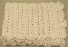 Baby Girls or Boys Crochet White Acrylic Baby blanket, Baby Girl gift, Handmade Baby Blanket, Baby Shower Gift, Made in the USA,   This is a precious white baby blanket made using acrylic yarn.  this little baby blanket would make a great Christening or Baptism Blanket for those precious little ones.   This handmade baby blanket measures 26x27   Have any questions before making your purchase. feel free to contact me. I answer all communications within a few hours…