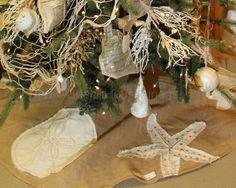Burlap Coastal Christmas Tree Skirt