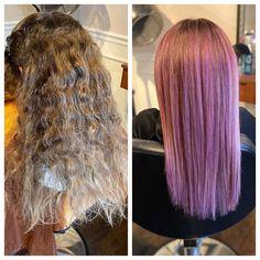 Lots of bleach. Lots of purple. Lots of hair Before and after. Lots of bleach. Lots of purple. Lots of hair Foil Highlights, Blonde Highlights, Brown Blonde Hair, Hair Color And Cut, Bleached Hair, Platinum Blonde, Purple Hair, Straight Hairstyles, My Hair
