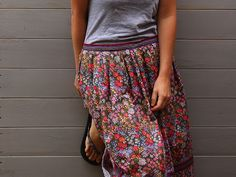 Put it on mute! I love how this grey tee just turns down the volume of the colors and the loundness of this print.