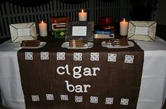 Cigar bar, fantastic ideas! Socially Circled: Outdoor Birthday Celebration -- would make a great birthday party idea for Jonah's 30th (can't believe that's only two years away...)