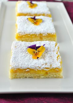 Lemon Bars with a Twist by lemons and lavender