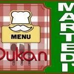 Menù del martedì per la dieta Dukan dei sette giorni