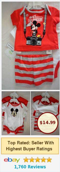 Mickey Mouse Boys' 3 Piece Set-Size: 3 Months-NEW | #ebay #disneybaby @KandR820 http://www.ebay.com/itm/Mickey-Mouse-Boys-3-Piece-Set-Size-3-Months-NEW-/142275689461