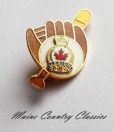 Vintage Royal Canadian Legion Enamel Pin Baseball Glove Bat | eBay