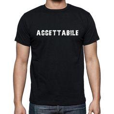 #maglietta #accettabile #uomini #parola  Maglietta nera Obsession! Trovare questo e molti altri qui -> https://www.teeshirtee.com/collections/men-italian-dictionary-black/products/accettabile-mens-short-sleeve-rounded-neck-t-shirt