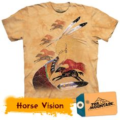 Indian Shirt Tie Dye Horse Vision T-shirt Adult Tee Native American Shirts Available in Medium, Large, XL, & Officially Licensed View our Native American Shirts, Native American Indians, Horse Shirt, Classic T Shirts, Graphic Tees, Shirt Designs, Tee Shirts, Horses, T Shirts For Women