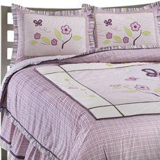 Flower purple quilt