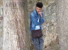 Super Model - Jonathan Guerri Buy now at our Shop Online  https://www.latolfetana.com/shop/vintage/limited-edition-modello-catana-vintage-nabuk-colore-marrone/