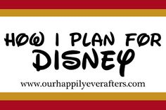 Planning a Disney trip - some great tips here
