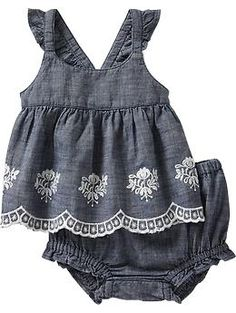 Chambray Tank Bloomer Sets for Baby | Old Navy