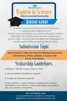 women in science scholarship-http://www.dronethusiast.com/drone-scholarship/