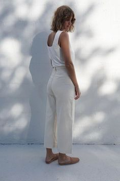 white tank outfit for summer - The Parrish Place