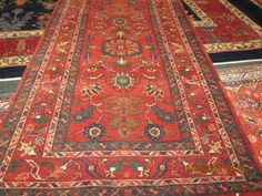 "#23) Beautiful small Heriz. 2'11"" x 5'3"" This is a Persian rug woven in Iran."