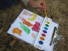 Painting Outside With Preschoolers