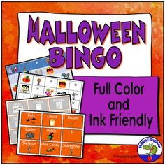 A fun Halloween Bingo game played with candy corn as chips. In this fun vocabulary activity, players cover colorful Halloween pictures and letters from the word Halloween on game cards. 31 different Halloween game boards that you can print out and laminate. (Full color or white background) 27 call ...