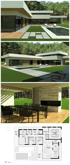 modern villa designed by NG architects www.ngarchitects.lt: