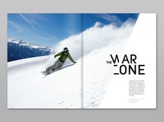 War Zone // Transworld Magazine by Noémie Pottiez, via Behance Graphic Design Posters, Graphic Design Typography, Graphic Design Inspiration, Corporate Brochure Design, Brochure Layout, Brochure Template, Page Layout Design, Graphisches Design, Magazine Design