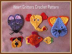 Heart Critters Crochet Pattern