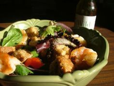 Wildtree's Balsamic Dipper Dinner Salad with Beer Bread Garlic Croutons Recipe www.mywildtree.com/JessH