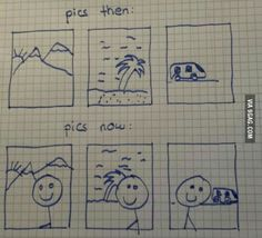 Picture, Selfie, draw, then-now