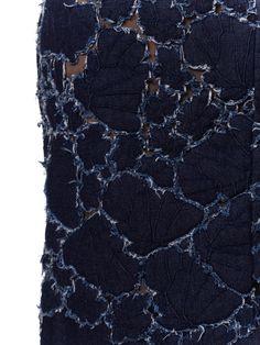 1980S Mugler Couture Stretch Denim Aplique Skirt Fabric Manipulation Techniques, Textiles Techniques, Fabric Beads, Mesh Fabric, Denim Art, Summer Denim, Fashion Details, Fashion Design, Victorian Lace