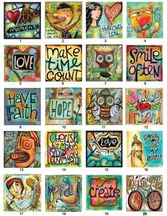 Inspirational meme with sayings artistic handmade diy craft paintdrawing ink colorful hope time love create smile cat woman man couplebicycle owl girl boy