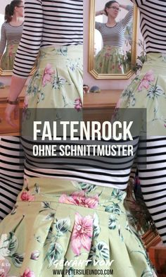 Faltenrock – Schnell, Einfach, Effektvoll Pleated skirt without pattern Trash To Couture, Diy Clothes Rack Cheap, T Shirt Makeover, Outfit Vestidos, Image Mode, Pantalon Cargo, Diy Mode, Diy Clothes Videos, Handmade Skirts