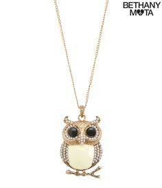 Layered Owl Long-Strand Necklace from Bethany Mota Collection at Aeropostale