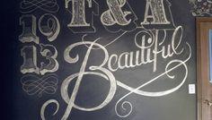 Chalk Lettering by Shaun Smylski