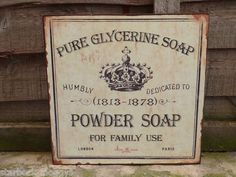 Bathroom Signs Ebay powder room metal sign vintage style shabby chic home plaque wall