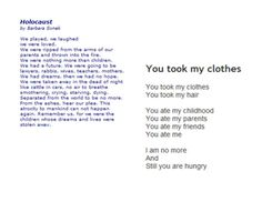 Holocaust poetry for discussion - A collection of poetry written ...