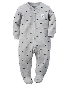 Baby Boy Cotton Zip-Up Sleep & Play   Carters.com