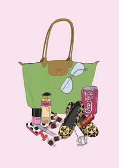 """painting idea...personal """"what's in my bag"""""""