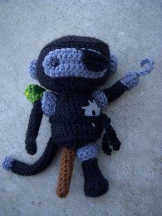 amigurumi identity crisis …  … presenting the pirate ninja robot monkey!