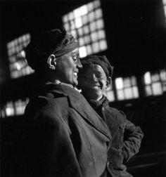Robert Doisneau. Miners. Galibot, Lens 1945
