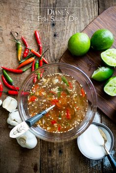 Easy recipe for Vietnamese Fish sauce dip. This recipe for vietnamese fish dip sauce for egg rolls, dip for vietnamese dipping sauce and vietnamese noodle. Vietnamese Fish, Vietnamese Recipes, Asian Recipes, Healthy Recipes, Ethnic Recipes, Fish Recipes, Sriracha Recipes, Hot Sauce Recipes, Appetizer Dishes
