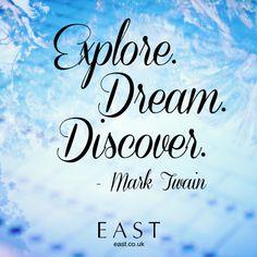 Explore, Dream. Discover.  #quote #quotes #inspiration