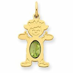 14K Girl 7x5 Oval Genuine Peridot August Birthstone Pendant - JewelryWeb JewelryWeb. $126.10. Save 50%!